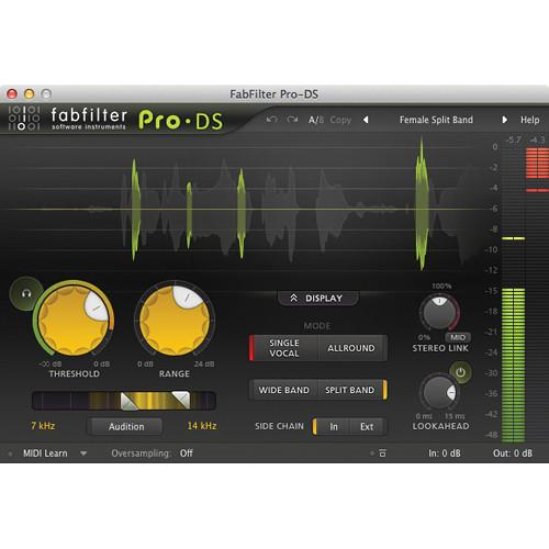 FabFilter  Pro-DS De-Esser Software 11-30174