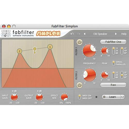 FabFilter  Simplon Filter Plug-In 11-30181