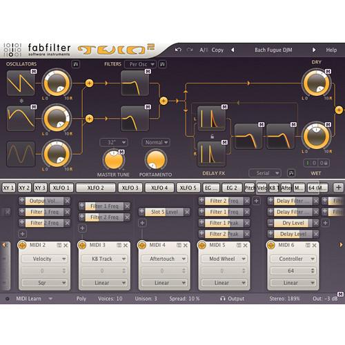 FabFilter  Twin 2 Synthesizer Software 11-30177