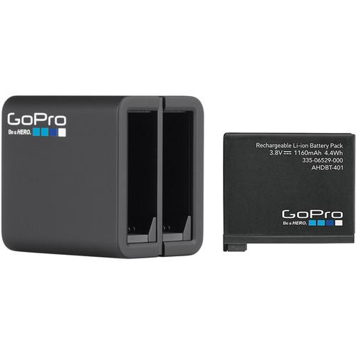 GoPro Dual Battery Charger with Battery for HERO4 AHBBP-401