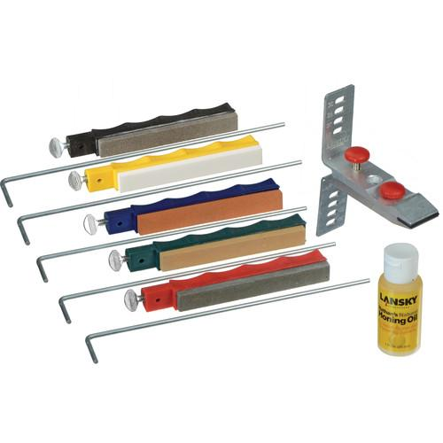 LANSKY Deluxe 5-Stone System Precision Knife Sharpening Kit
