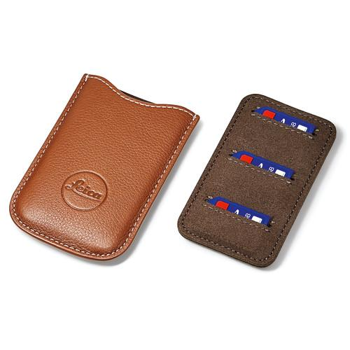 Leica  SD and Credit Card Holder (Cognac) 18539