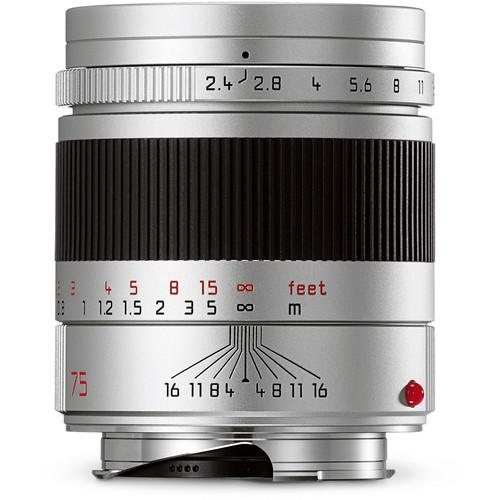 Leica  Summarit-M 75mm f/2.4 Lens (Silver) 11683