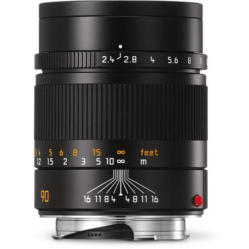 Leica  Summarit-M 90mm f/2.4 Lens (Black) 11684