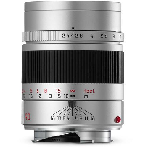 Leica  Summarit-M 90mm f/2.4 Lens (Silver) 11685