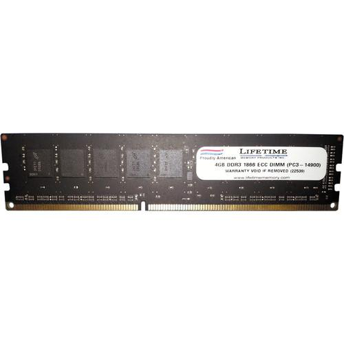 Lifetime Memory 4GB (1 x 4) PC3-14900 DDR3 1866 MHz 10313-4ECC