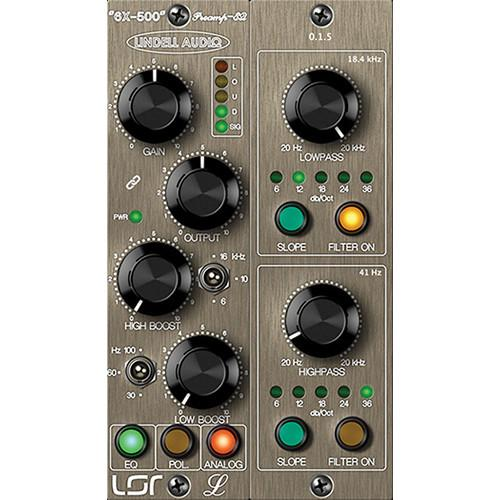 Lindell Audio 6X-500 - Class A Preamp and EQ Plug-In 6XPLUG