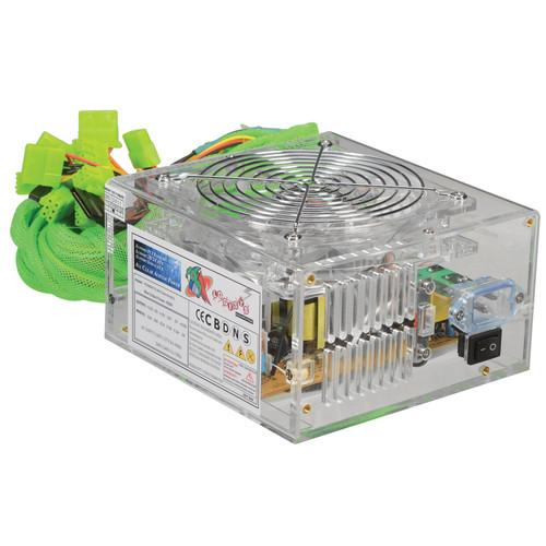 Logisys 550W LED Acrylic Clear Power Supply PS550AC12