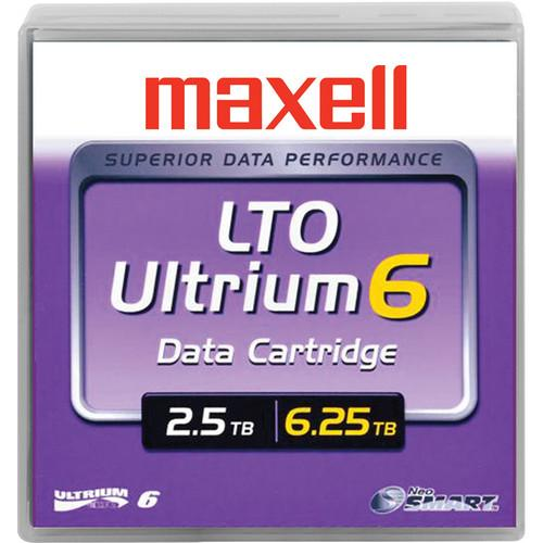 Maxell LTO Ultrium 6 Tape Cartridge with Label (Black) 229558LBL
