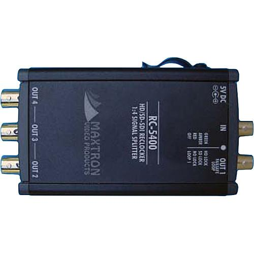 Maxtron RC-5400 1x4 HD/SD Serial Digital Re-Clocking RC-5400