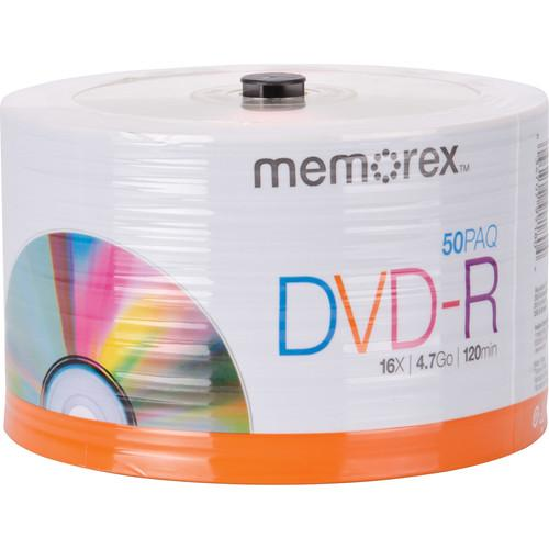 Memorex DVD-R 4.7GB 16x Disc (Spindle Pack of 50) 99180