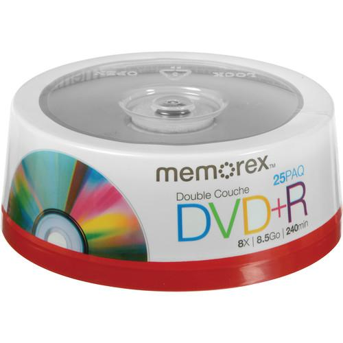Memorex  DVD R 8.5GB 8x Double Layer Discs 05712