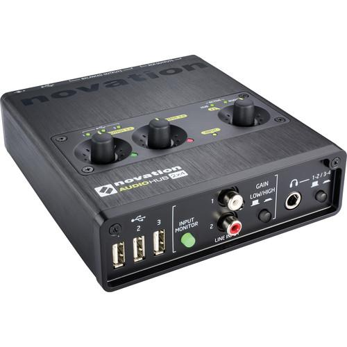 Novation Audiohub 2x4 Audio Interface and USB Hub AUDIOHUB-2X4