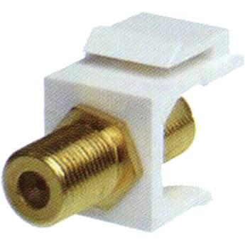 NTW F-Type Gold-Plated Coupler Keystone White NKY-FF/FG-WHT