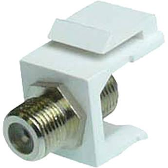 NTW F-Type Silver-Plated Keystone Coupler NKY-FF/F-WHT