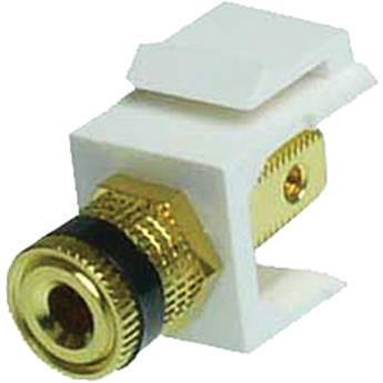 NTW Speaker Post Black Snap-in Keystone Jack NJK/AV-SPO/BK/W