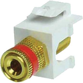 NTW Speaker Post Red Snap-in Keystone Jack NJK/AV-SPO/RD/W