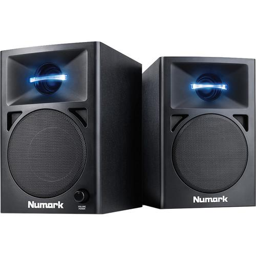 Numark N-Wave 360 Powered Desktop DJ Monitors (Pair) N-WAVE 360