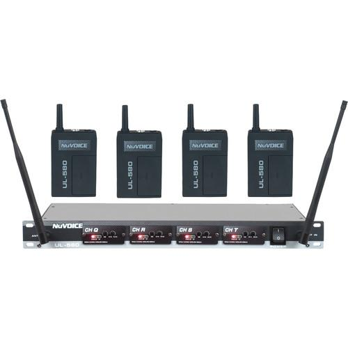 NuVoice UH-580 UHF Wireless Headset System UH580-3