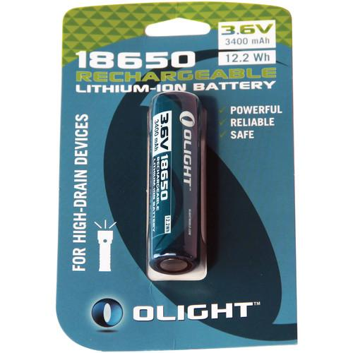 Olight 18650 Rechargeable Lithium-Ion Battery 18650-3400MAH-CARD