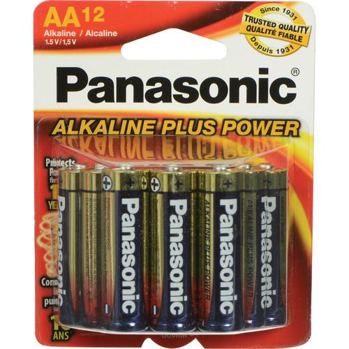 Panasonic AA 1.5V Alkaline Batteries (12-Pack) PAN12AA