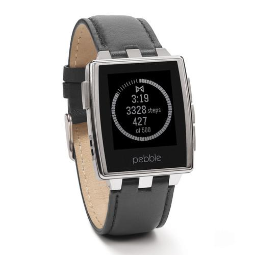 Pebble Steel Smartwatch (Brushed Stainless) 401SLR