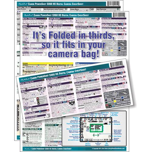PhotoBert CheatSheet for Canon PowerShot SX60 HS TC154-14