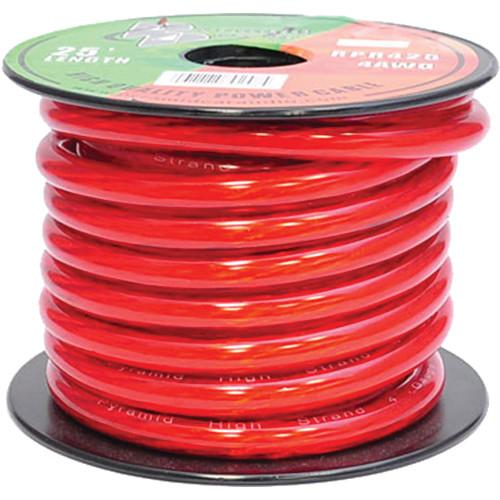 Pyramid  4 Gauge Red Power Wire (25') RPR425
