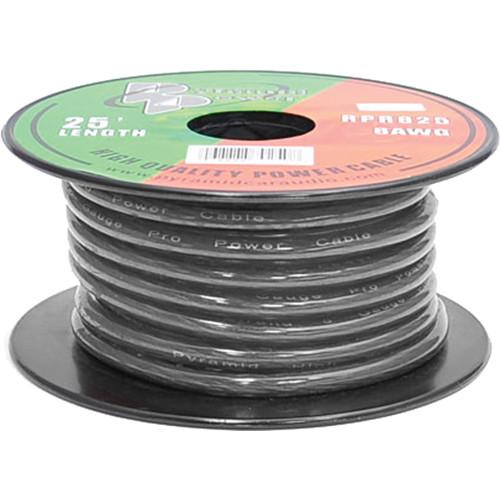 Pyramid  8 Gauge Black Power Wire (25') RPB825