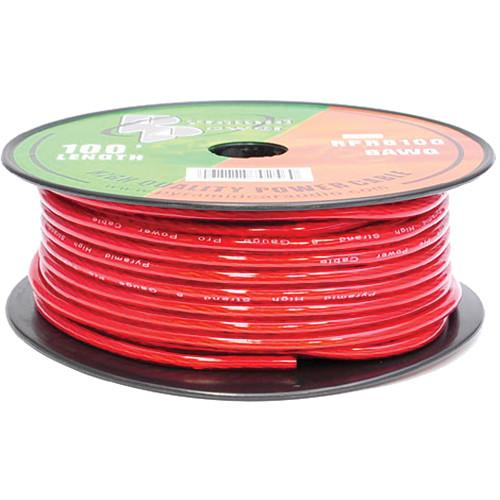 Pyramid  8 Gauge Red Power Wire (100') RPR8100