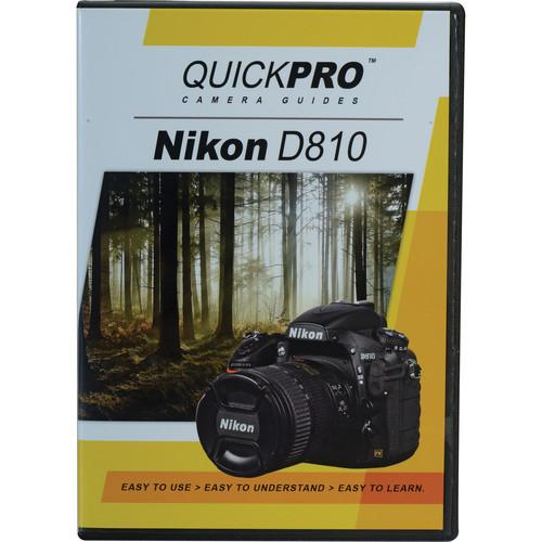 QuickPro DVD: Nikon D810 Instructional Camera Guide 5041