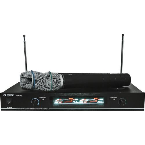 RSQ Audio DUAL MIC VHF WIRELESS RECHARGABLE SY RSQRM300