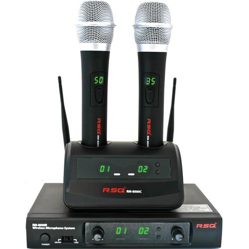 RSQ Audio RM-8000 Rechargeable Dual Channel Wireless RM8000