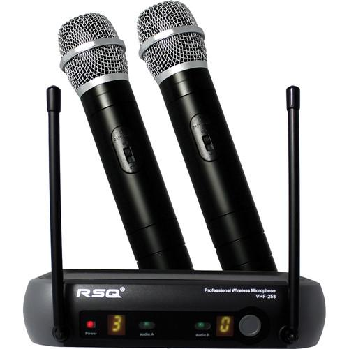 RSQ Audio VHF-258 Dual-Channel Professional Wireless VHF-258