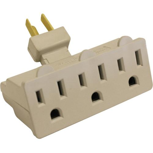 SPARK 3 Outlet Grounded Swivel Wall Tap Adapter EL1858