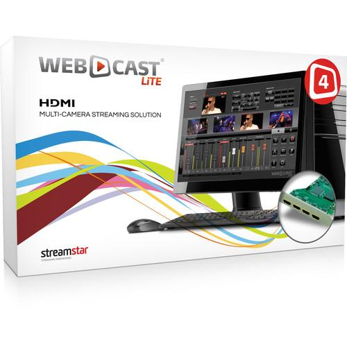 STREAMSTAR WEBCAST LiTE 4 with Four-Input HDMI WEBCASTLITE4