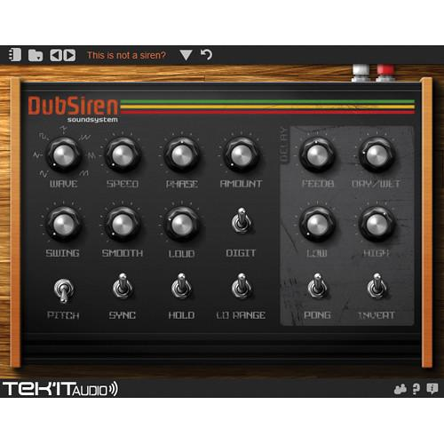 Tek'it Audio DubSiren - Siren Sound Generating Software 11-31142