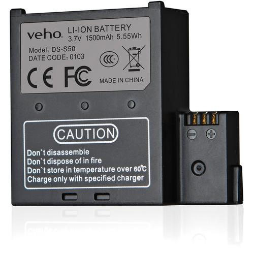 veho 1500mAh Spare Battery for MUVI K-Series Action VCC-A034-SB