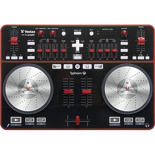 Vestax Vestax Typhoon DJ Starter Kit with Headphones, Laptop