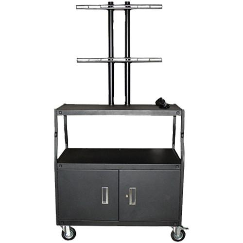 Vutec Wide Body Flat Panel Cart with Locking Cabinet VFPCAB4420E