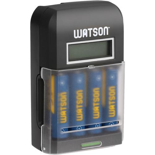 Watson 4-Bay Rapid Charger with LCD and 4 AA NiMH NM-4H23LCD