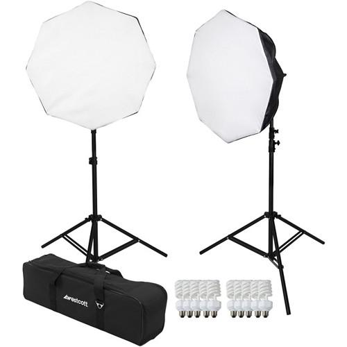 Westcott 2-Light D5 Daylight Octabox Kit with Carry Case 482