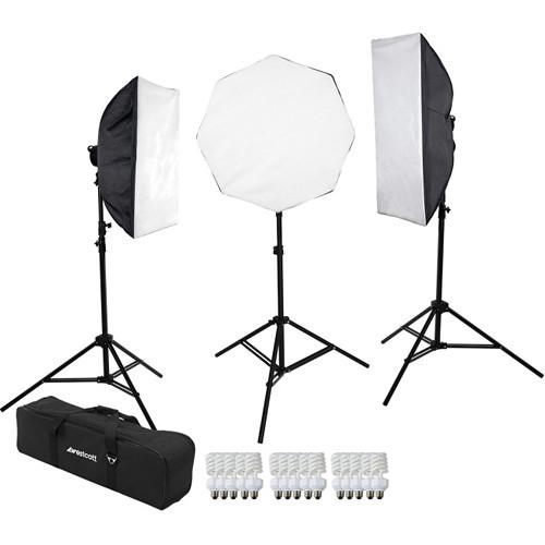 Westcott 3-Light D5 Daylight Softbox Kit with Carry Case 483