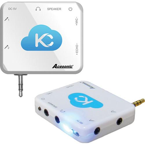 Acesonic USA Sing n Jam Karaoke Mixer for iOS and KM-SJ1W