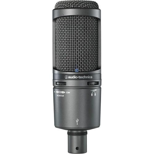 Audio-Technica AT2020USB  USB Microphone Kit with Headphones,