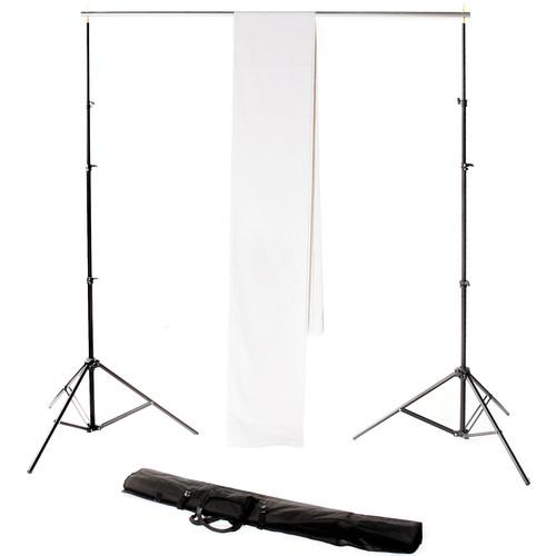 Backdrop Alley Studio Kit with Stand and 10 x 12' STDKT-12W
