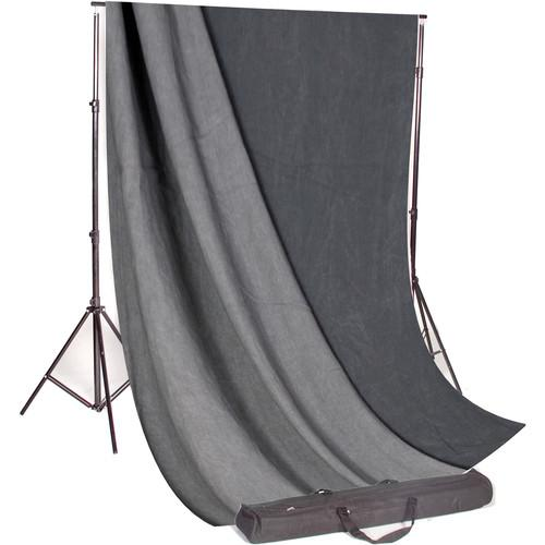 Backdrop Alley Studio Kit with Stand and 10 x 24' STDKT-24CG