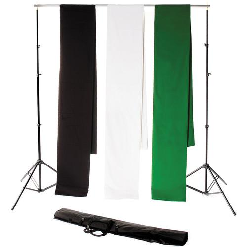 Backdrop Alley Studio Kit with Stand and Three 10 x STDKT-24BWG