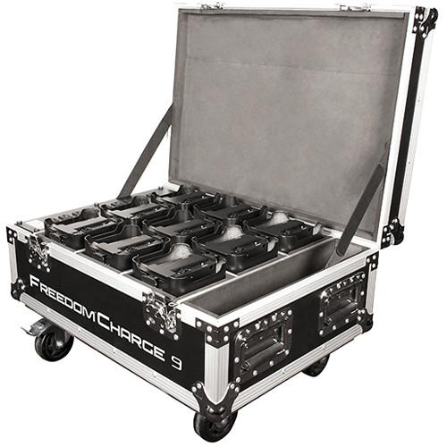 CHAUVET Freedom Charge 9 Rolling Case (Black) FREEDOMCHARGE9