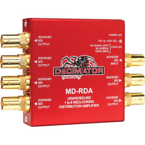 DECIMATOR MD-RDA Mini (3G/HD/SD) SDI 1 To 6 Relocking DD-MD-RDA
